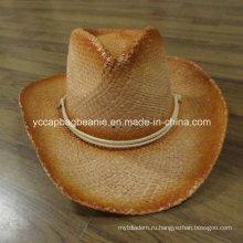 Модная бумага соломенная шляпа ковбоя