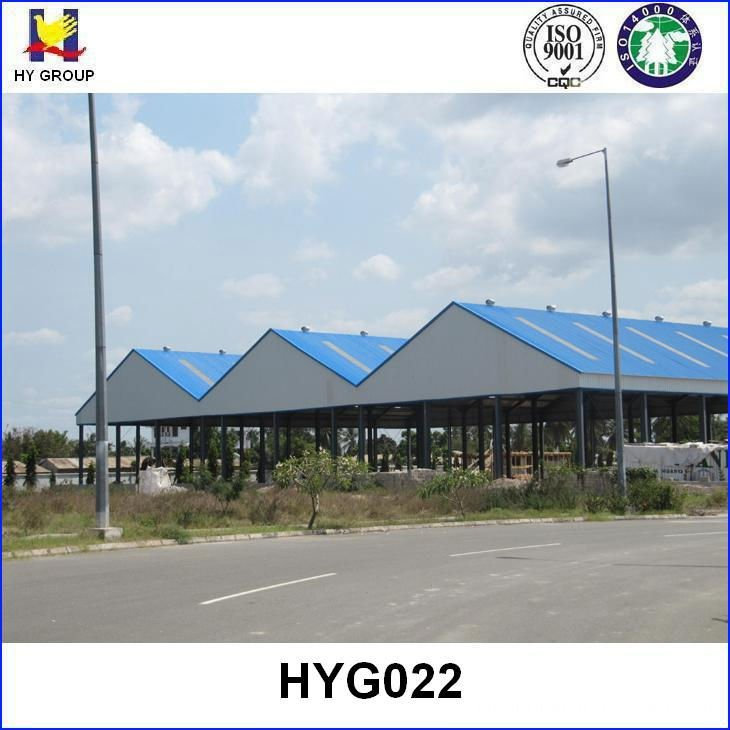 steel roof structure for warehouse