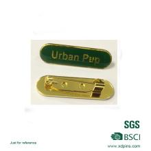 Insigne de plaque signalétique époxy en émail souple de couleur verte