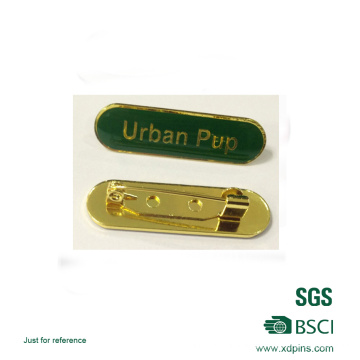 Green Color Soft Enamel Epoxy Nameplate Badge