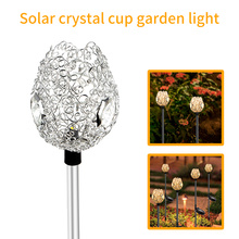 Lâmpada solar para jardim com copo de cristal L-107WW