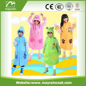 Pvc Rainwear Long Raincoat Enfants Rainsuit