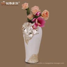 наиболее популярные элегантный дизайн полистоуна ваза для цветов для домашнего декора