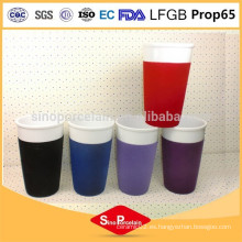 CEE porcelana de porcelana de porcelana de 400 ml porcelana Flock taza de café de cerámica taza