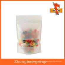 China-Fabrik heiße Verkaufsprodukte Reispapierbeutel mit Fenster für Süßigkeit und Nüsse nach Maß