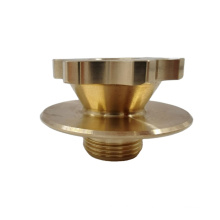 Factory made CNC milled auto brass parts with polishing, CNC machined part brass precision parts