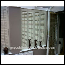 Real wood Plantation shutters 2.5 inch blade double panel Z frame stain color wooden shutters