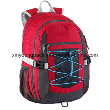 Red Waterproof Lightweight Backpack Travel Bag