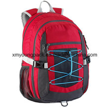 Vermelho, impermeável, leve, mochila, viagem, saco