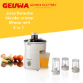 Geuwa 300W Motor Juicer with Safety Interlock Clamp