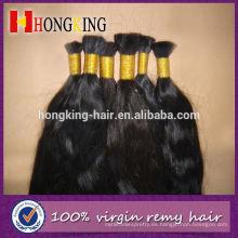 Suministro de belleza a granel de cabello humano de color natural