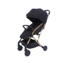 Carrinho de bebê dobrável carrinho infantil com arnês de segurança de 5 pontos Multi assento reclinável cesta