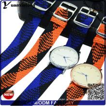 Yxl-031 Novo Estilo Perlon Strap Banda Promocional de Boa Qualidade Assista Strap Relógio de Pulso Perlon Strap Design Personalizado Por Atacado Pulseira de Relógio