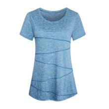 Cationic Breathable Fashion Solid Color Round Neck Short Sleeve T-Shirt