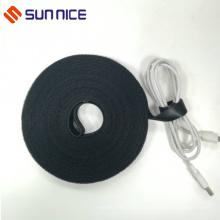 Schwarz Wiederverwendbare Nylonband Double Side Cords Management