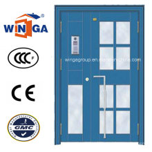 Best Sell Electric Double Size Security Steel Glass Door (W-GD-16)