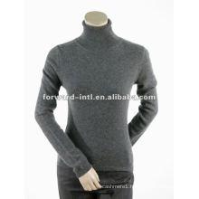 Lady's Cashmere sweater knitwear Turtle neck