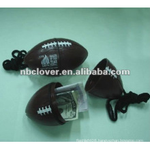 football shape beach safe box with strap