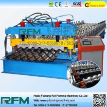 FX galvanise la machine de fabrication de tuiles vitrées machine à toiture en aluminium