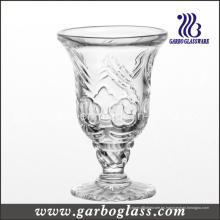 Copa de vidrio con piedras grabadas (GB040505MH)