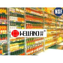 Ajustable cromo metal enlatado exhibidores de alimentos para supermercado / tienda