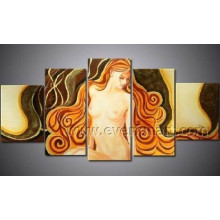 Modern Wall Art Home Decoration Woman Nude Oil Painting (FI-022)