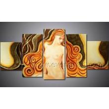 Самомоднейшая картина искусства обнажённого женщины стены искусствоа украшения стены (FI-022)