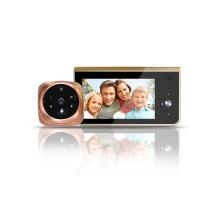 Новый глазок батарейках видео беспроводной дверной звонок с монитором и датчиком движения
