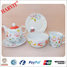 Breakfast Dining Set With Cereal Bowl Dessert Plate Mugs Cups Saucers / Afternoon Tea Sets / German Tea Set And Coffee Set