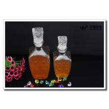 Diamond Shape Glass Wine Bottle with Glass Lid