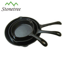 Wholesale 8'' Pre-seasoned Egg Round Mini Cast Iron Cooking Fry Pan