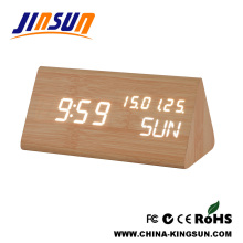 Noval Wood Clock With Temperature And Calendar Display