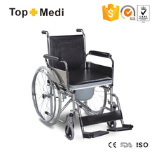 Folabale Steel Wheelcair with Plastic Commode Saet for Elder
