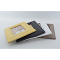 Neue MDF-Papierumhüllung Fotorahmen in hölzerner Kornfarbe