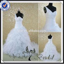 RSW533 One Shoulder Sweetheart Neckline Ruched Kleinfeld Wedding Dresses