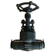 Válvula de globo forjado a presión de alta presión del acero de carbono A105 del estruendo