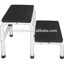 Footstool two steps white epoxy powder coated