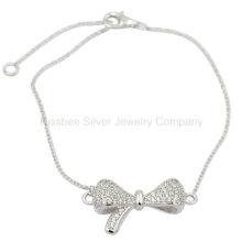 , Silberne Schmucksachen, Messingschmucksachen, hübsches Bowknot-Armband (KT3011)