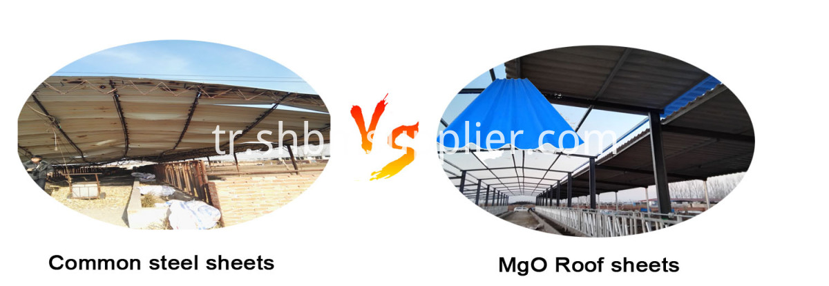 High Strength Waterproof Iron Crown MgO Roofing Sheets
