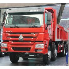 Camion à benne basculante à benne basculante HOWO Sinotruk 371HP 6X4 / 8X4