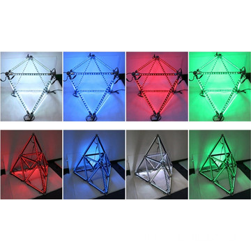 DMX 제어 RGB 매트릭스 Led Geometry Meteor Tube