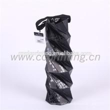 bolsa de papel de regalo de vino de diseño único con mango de cinta