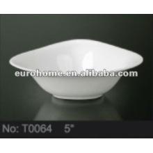 Triangulaire de petits bols en porcelaine en céramique pour le jardin de l'hôtel -T0064