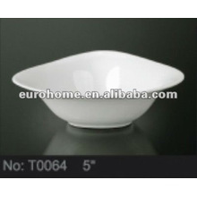 triangle small porcelain ceramic soup bowls for hotel garden -T0064