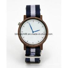 Relógios novos dos esportes relógio de madeira de quartzo da faixa da OTAN para o homem
