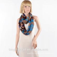 2016 Frühling / Sommer Lady modische gedruckt Polyester Voile runden Schal Loop Schal