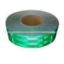 Fitas de segurança refletivas verdes personalizadas da cor