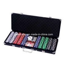 500PCS Poker Chip Set in Black Color Aluminum Case (SY-S45)