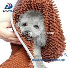 Microfibra Chenille secado toalla de baño para mascotas