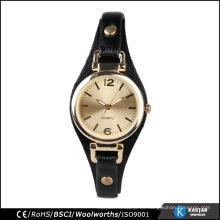 Relojes de las mujeres de la manera del oro,